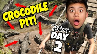 WALKING OVER A CROCODILE PIT AT DISNEY WORLD!!! Playing in Toy Story Land After it Closes! DAY 2