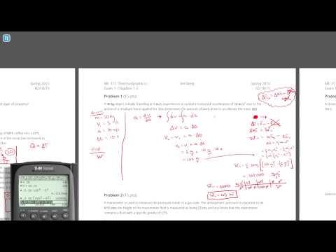 Solution - Problem 1, Spring 2015, Exam 1, Thermodynamics I ...