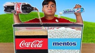 Experiment: Diet Coke and Mentos Aquarium