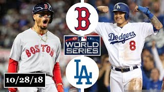 Boston Red Sox vs Los Angeles Dodgers Highlights    World Series Game 5    October 28, 2018