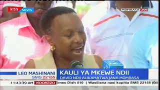 David Ndii's wife gives details of why she was detained