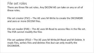 DICOM file services