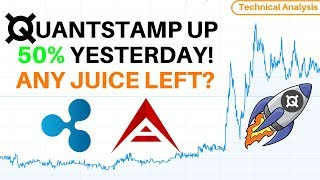 Quantstamp Up 50% Yesterday, Any Juice Left? Ripple Charging Higher + ARK