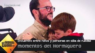 El emotivo encuentro sin prejuicios entre niños y personas en sillas de ruedas - El Hormiguero 3.0