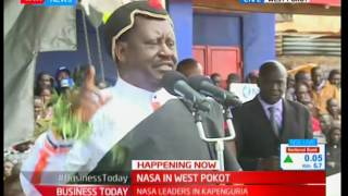 Youth from West Pokot declare their support of Raila Odinga