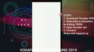 VODAFONE GHANA FREE BROWSING 2019, (SHOWTIME) WITH THUNDER VPN