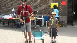Chris and Farhan singing Train in Vain.