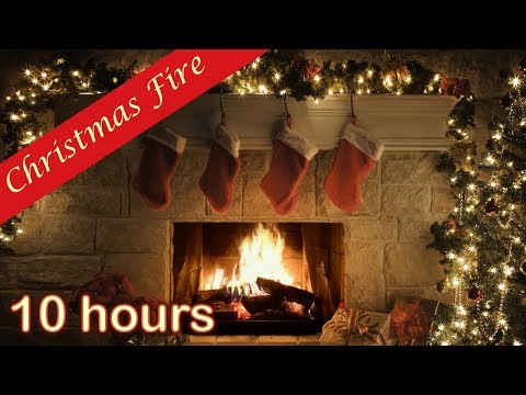 Classic Yule Log Fireplace with Crackling Fire Sounds (HD