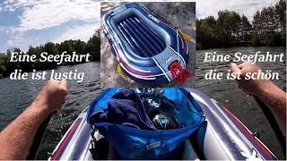 Bootsfahrt BESTWAY HF TRECK X1 Schlauchboot