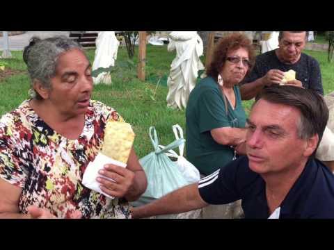 olsonaro visita Ribeira/SP - Cidade onde morou na adolescência.