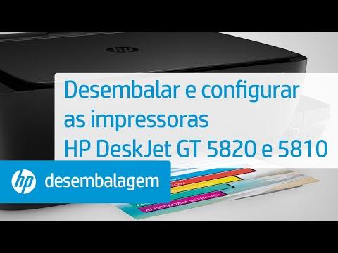 Desembalar e configurar as impressoras HP DeskJet GT 5820 e 5810