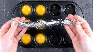 Deswegen musst du 6 rohe Eier in der Muffinform trennen. Das Ergebnis wird dich umhauen.