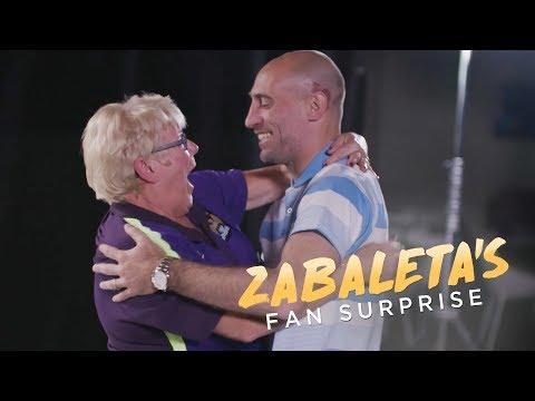 Tears & Kisses! | Pablo Zabaleta Surprises Man City Fans!