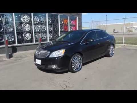 HILLYARD WHEELS 2011 BUICK VERANO WITH 20 INCH CUSTOM CHROME WHEELS