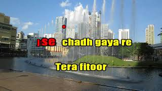 TERA FITOOR KARAOKE WITH LYRICS Genius    Arijit Singh,