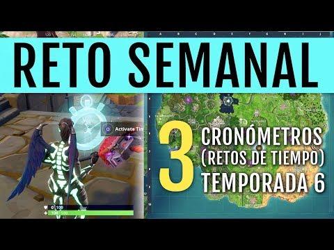 TEMPORADA 6  UBICACIÓN Y CÓMO COMPLETAR 3 RETOS DE TIEMPO (CRONÓMETROS)  ca52a6fab15f