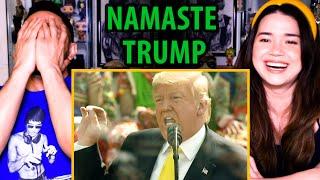 TRUMP'S NAMASTE SPEECH IN INDIA | Ahmedabad | February 24 2020 | Reaction | Jaby Koay