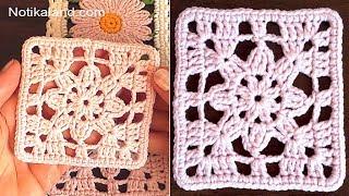 CROCHET EASY Crochet Granny Square  Lace Motif #4  For Beginners