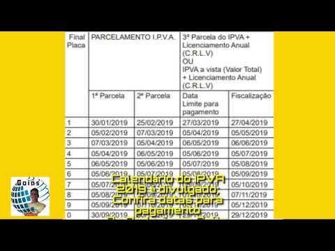 Calendário do IPVA 2019 é divulgado; Confira datas para pagamento em Goiás,