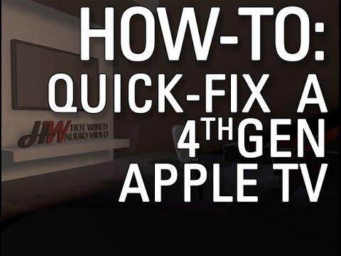 How To Restart Gen. 4 Apple TV