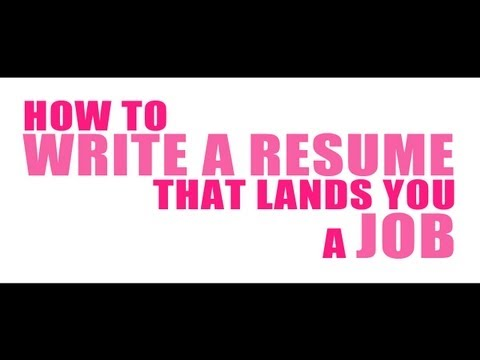 Resume Tips and a Sneak Peek at My Resume