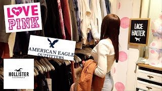 Teen Shopping Spree Vlog At The Mall | Pink, American Eagle, Hollister