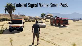 Federal Signal Vama European and Romanian Sirens [Sound] (RO, HU, PL, ES, PT) beta