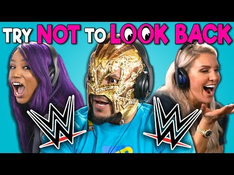 WWE Superstars React To Try Not To Look Back Challenge (видео)