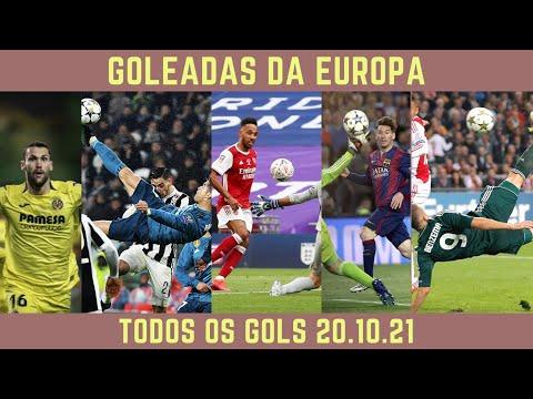 GOLEADAS NA EUROPA 20.10.21 #futebol