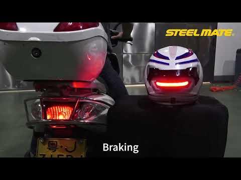 Motorcycle Helmet Signal Light Rechargeable LED Brake Light for Helmel-H3