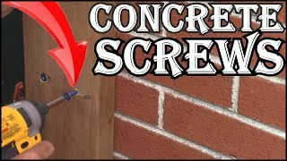 How To Screw A  Board To  Brick With  Concrete Screws