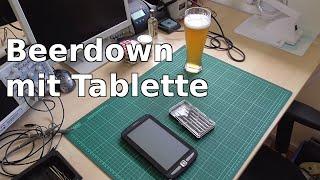 Beerdown mit Tablette - wir zerlegen ein Pearl-Tablet