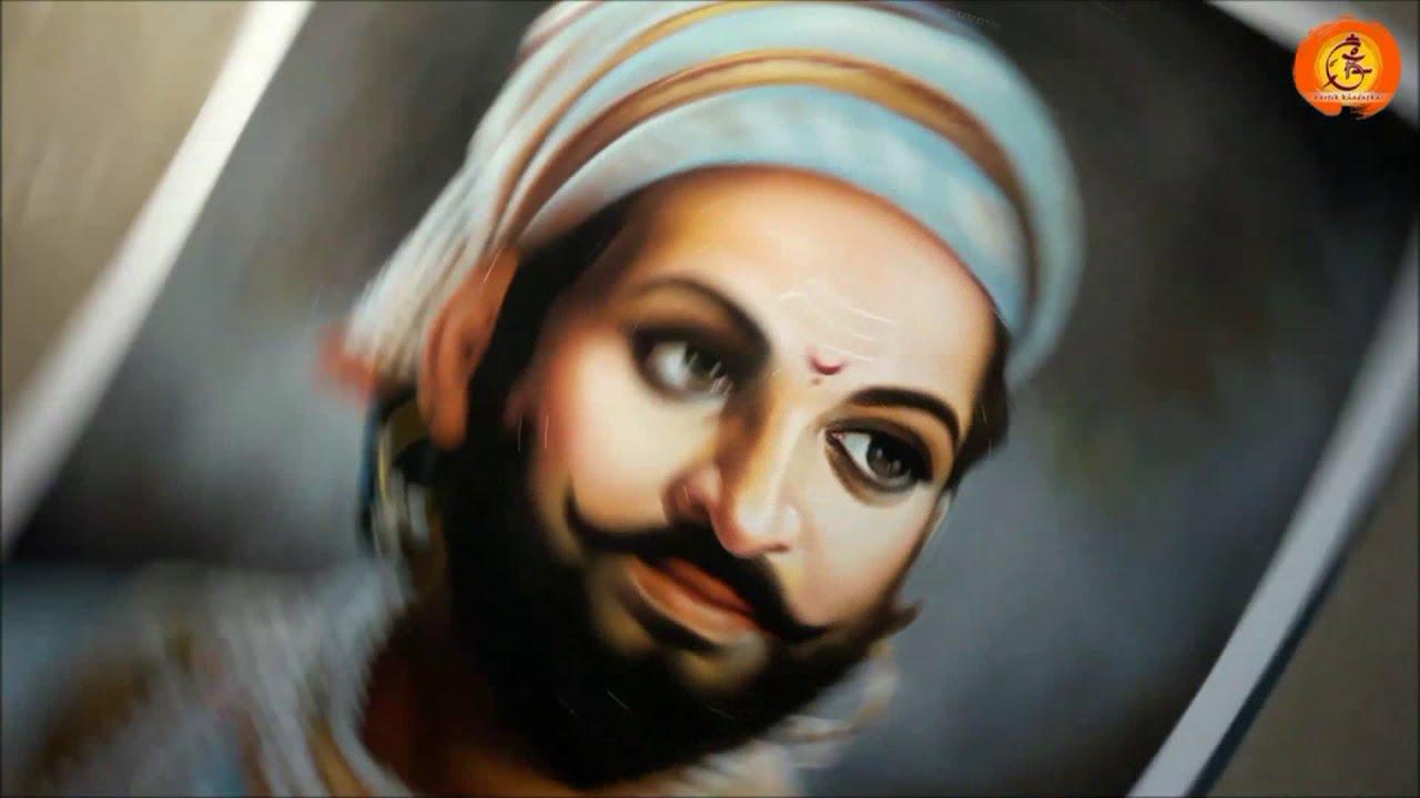 hyper realistic portrait rangoli design shivaji by kartik khadatkar