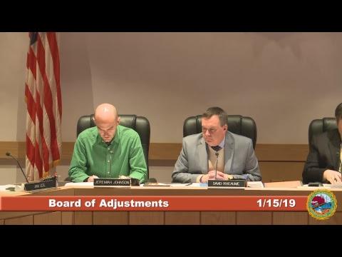 Board of Adjustments 1.15.19
