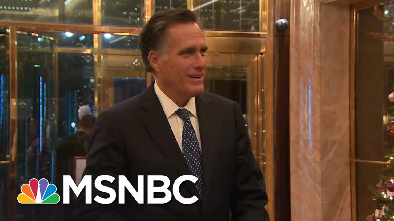 Mitt Romney: 'Enlightening' Discussions With Donald Trump | Rachel Maddow | MSNBC thumbnail