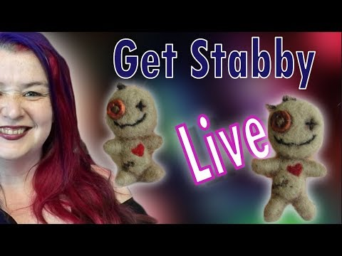 🔴 Get Stabby With me. Needle Felted Voodoo Doll
