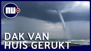 Waterhoos, hagel en vliegende stoelen: Noodweer teistert Italië   NU.nl