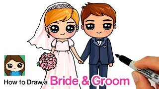 How To Draw A Bride And Groom