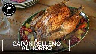 Capón relleno al horno, ¡un clásico de navidad!