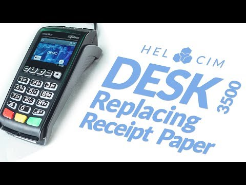 How to Replace Receipt Paper on the Ingenico Desk 3500