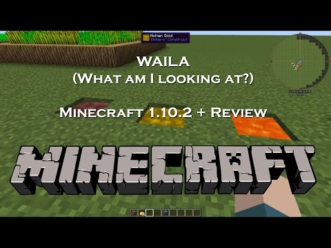 WAILA (What am I looking at?) | Modded Minecraft Mod Spotlight and Review  | 1.10.2 +