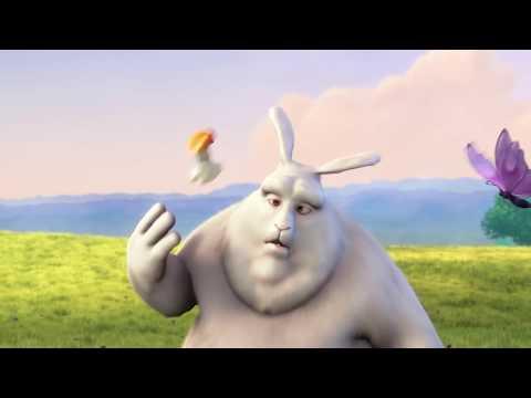 Большой лопоухий кролик. Веселый мультик для детей