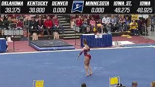 Anastasia Webb (Oklahoma) 2018 Regionals Floor 9.95