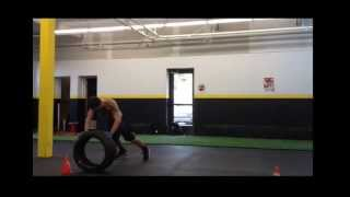 Explosive Power - Core Strength - 5 min. Tire training for MMA