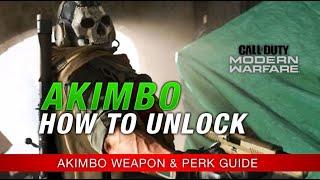 Modern Warfare : How to Unlock AKIMBO Weapons / AKIMBO DUAL Pistols PERK GUIDE (Call of Duty MW)