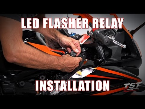 How to install an LED Flasher Relay on a 2016+ Honda CBR500R & CB500F by TST Industries
