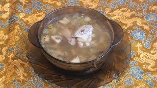 Суп с перепёлкой и пекинской капустой.