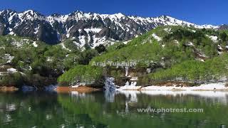 新緑の奥只見湖