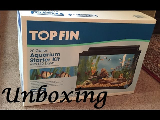 Unboxing the Top Fin 20 Gallon Aquarium Kit!