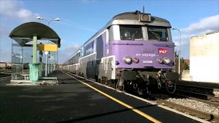 preview picture of video 'BRIOUDE: ARRIVEE TRAIN CEVENOL Clermont Ferrand / Nimes 9 décembre 2012'